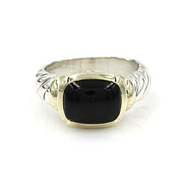 David Yurman Black Onyx Ring in Silver and Gold