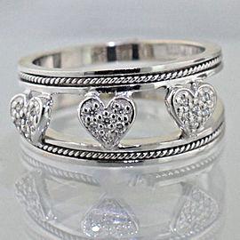 Hidalgo 18k White Gold .15ctw Diamond Ring Size 6.5