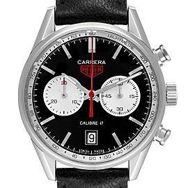 Tag Heuer Carrera Heritage Panda Dial Chronograph Steel Mens Watch CV211D