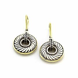 Yurman Drop Earrings in Silver and Gold