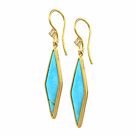 Lika Behar Kara Turquoise and Diamond Earrings in Gold