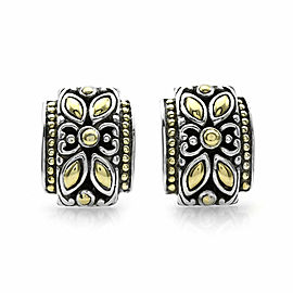 John Hardy Jaisalmer Earrings in Silver and Gold