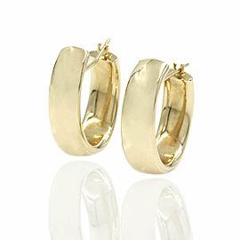 Oval Hoop Earrings in Gold