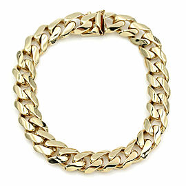 Gentlemans Curb Link Bracelet in Gold