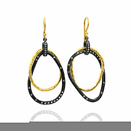 Lika Behar Kelly Diamond Drop Earrings in Silver and Gold