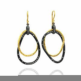 Lika Behar Kelly Diamond Drop Earrings in Silver and Gold