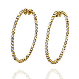 18ky Inside-Out Diamond Hoop Earrings