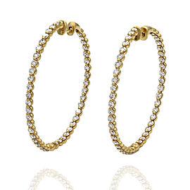 18ky Inside-Out Diamond Hoop Earrings