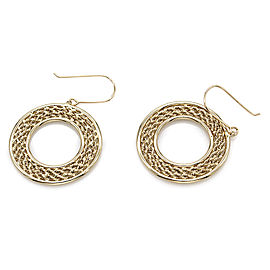 Circle Drop Earrings in Gold