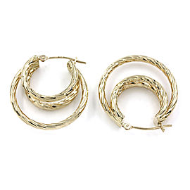 Triple Hoop Earrings in Gold