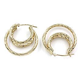 Triple Hoop Earrings in Gold