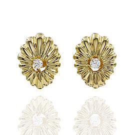 Fluted Diamond Earrings in Gold