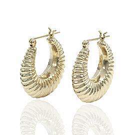 Tapered Shrimp Earrings in Gold