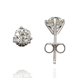 1.81ctw European Cut Diamond Stud Earrings