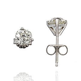 1.81ctw European Cut Diamond Stud Earrings