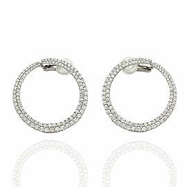 Diamond Circle Earrings in Gold