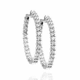 Diamond Inside-Outside Hoop Earrings in Gold