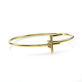 Bulgari Custom Letter F Gold Bangle Bracelet