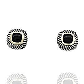 Yurman Onyx Earrings in Silver and Gold