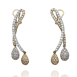 14ktt Sonia B Twisted Drop Earrings with Pear Shape Pave Dangles