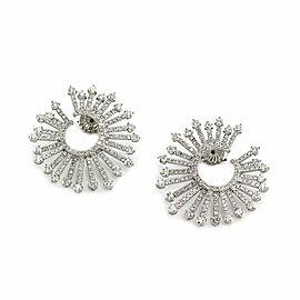 Diamond Sunburst Earrings in Gold