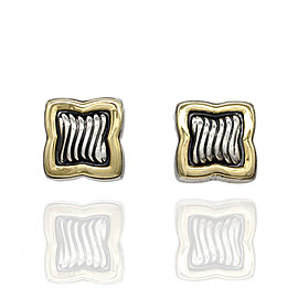 Yurman Quatrefoil Earrings in Silver and Gold