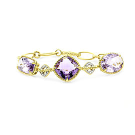 David Yurman Figaro Amethyst and Diamond Bracelet in Gold