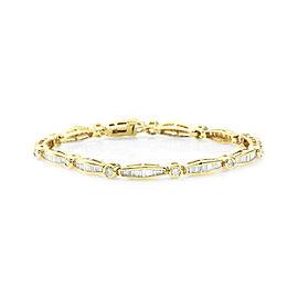 Diamond Line Bracelet in Gold