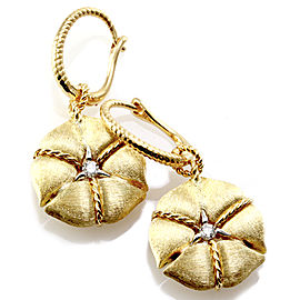 Nanis Amarcord Collection Drop Earrings with Diamonds in 18K Yellow Gold