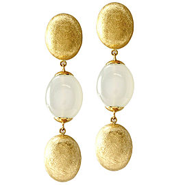 Nanis Dancing in the Rain Collection Moonstone Drop Earrings in 18K Yellow Gold
