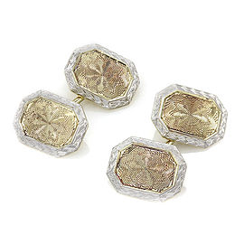Octagonal Cufflinks in Gold and Platinum