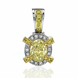 Charles Krypell Diamond Drop Pendant in Platinum and Gold