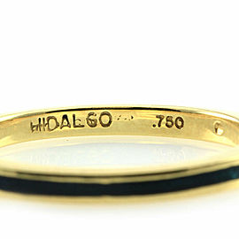 Hidalgo Deep Green Enamel Stackable Eternity Band in Gold