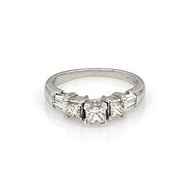 Princess Diamond Engagement Ring in Platinum