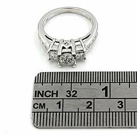 0.70ct Princess Cut Diamond Engagement Ring in 14K White Gold