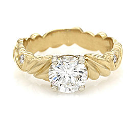 1.27ct Diamond Solitaire Ring in 18K Yellow Gold