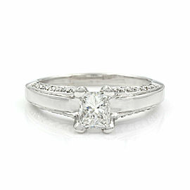 Princess Cut Diamond Ring in Gold