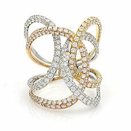 Diamond Swirl Ring in Gold