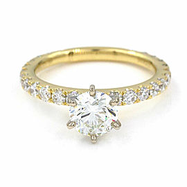 1.00ct GIA Certified Diamond Engagement Ring in 18K Yellow Gold