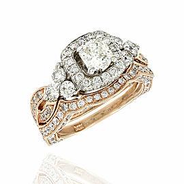 0.50ct Radiant Diamond Engagement Ring in 14K White & Rose Gold