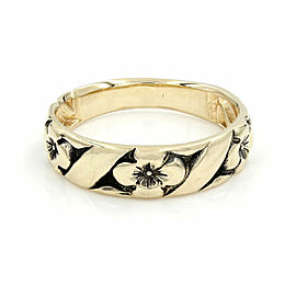 Flower Ring Band in Gold