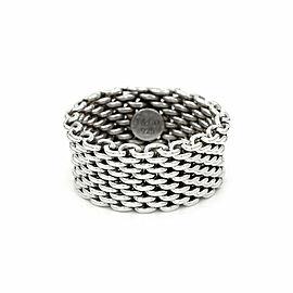 Tiffany Somereset Mesh Ring in Silver