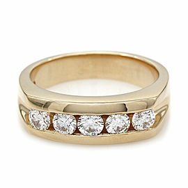 1.00ctw Gentlemans Five Stone Diamond Ring in 14K Yellow Gold