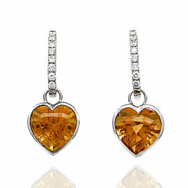 Citrine Earring Charms in Gold