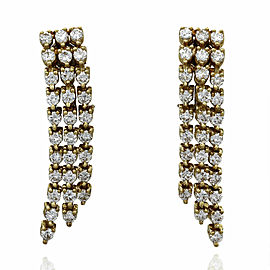 Three Strand Diamond Earrings in Gold