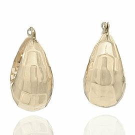 Beveled Earrings in Gold