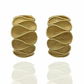 Ribbon Earrings in Gold