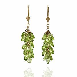 Peridot Cluster Earrings in Gold