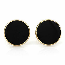 Onyx Cufflinks in Gold