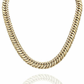 Cuban Link Chain Necklace in Gold